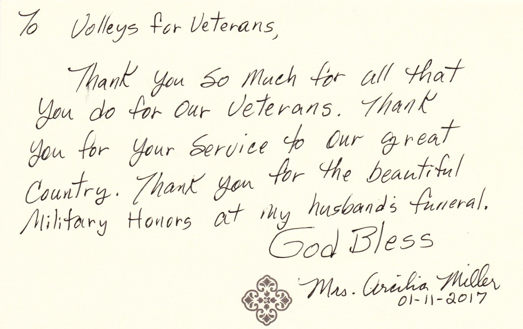 thank you notes volleys for veterans honor guard amarillo texas
